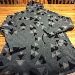 North Face fleece jacket with hood XL